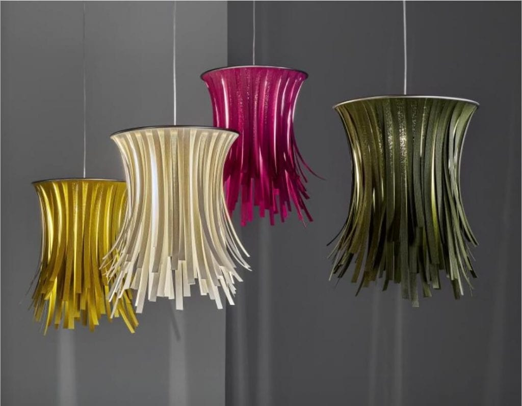 Bety Eco lighting collection by a by Arturo Álvarez, award-winning lighting designer from Spain Ripe Red
