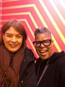 Elaine Schiff and Patti Carpenter