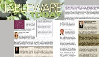 Tabelware Today- Dec/Jan 2021 Edition Featuring Tom Mirabile of Springboard Futures